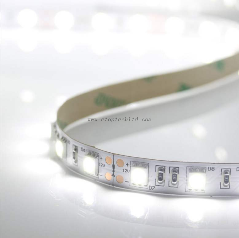 Waterproof Indoor Single Color LED Strip 5050 60leds/m 5m/roll LED Flexible Rope