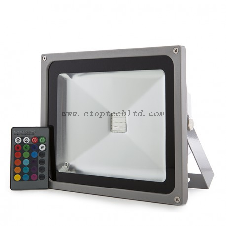 RGB LED Floodlight Remote Control IP65 50W