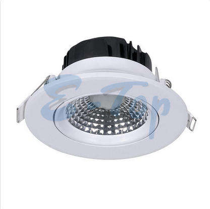 Super Brightness LED Down Lights – 5W LED Downlight Round Changing Angle White Body Warm White
