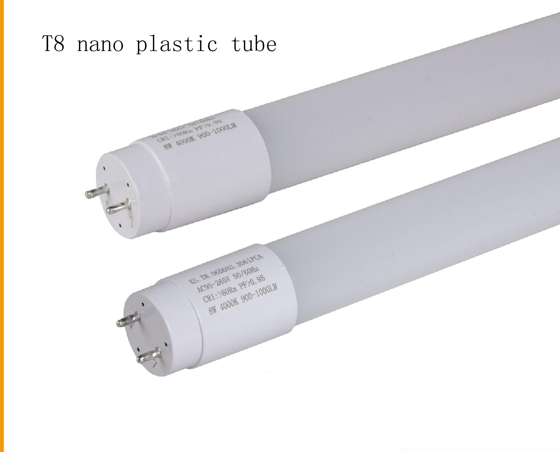 New LED nano plastic T8 tube