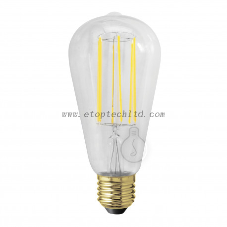 Warm White LED Filament Bulb Lights Transparent E27 3W