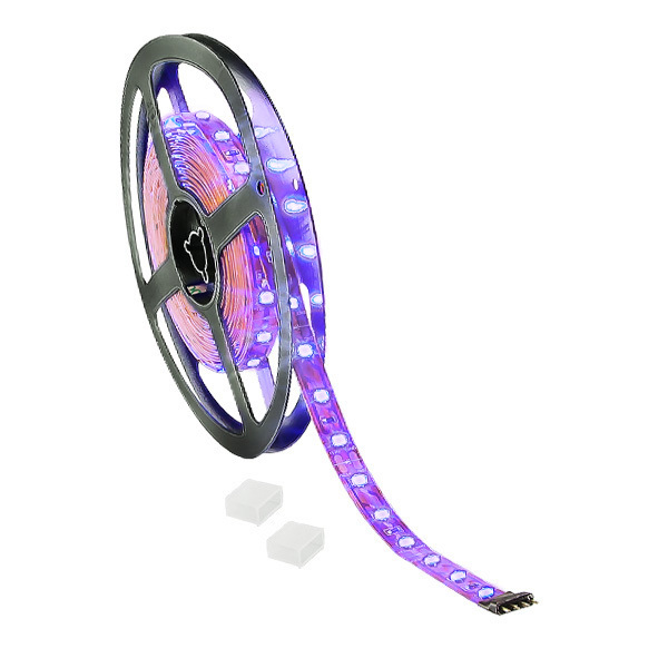 5M - Blacklight UV - LED Tape Light - Dimmable - 24 Volt - 2835