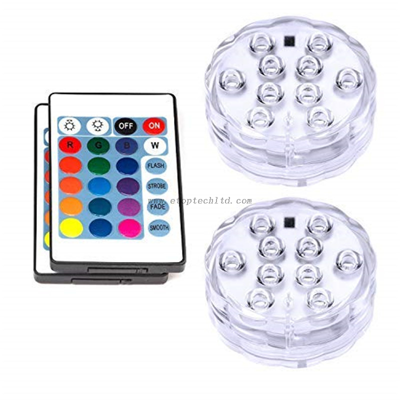 Remote Control RGB Underwater Fountain Lights Submersible LED Lights