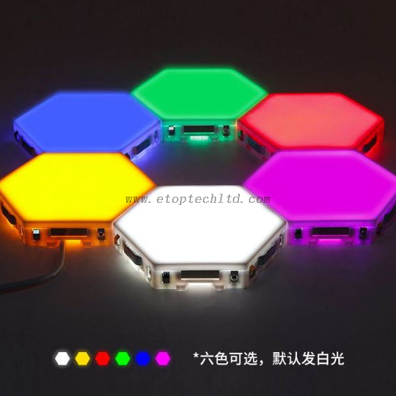 DIY Decorative Modular Light White Touch Control Sensitive Magnetic Wall Hexagon LED Panel Lights