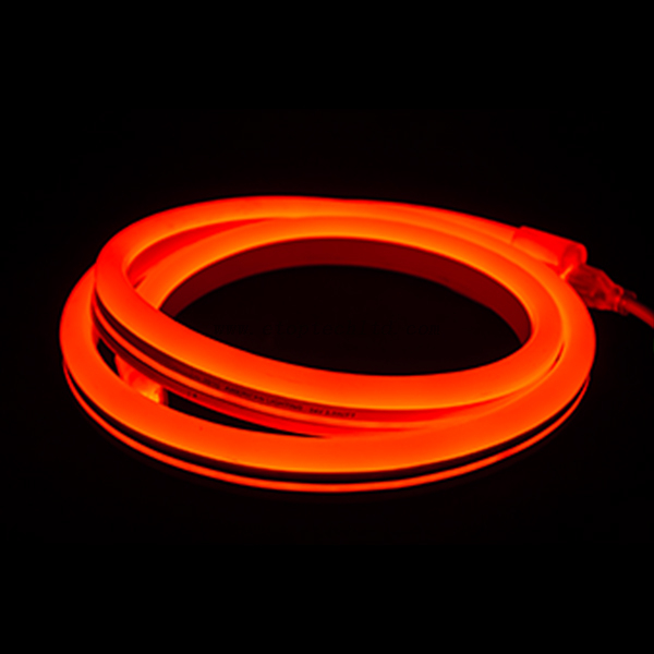 120V 220V Flexible LED Neon Rope Light Silicon Jacket Red