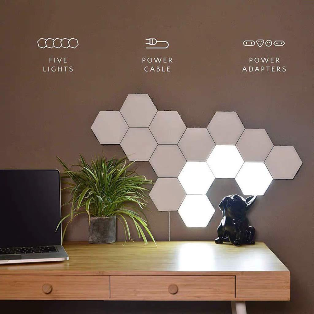 Touch Control Sensitive Magnetic Wall Hexagon Led Panel Light