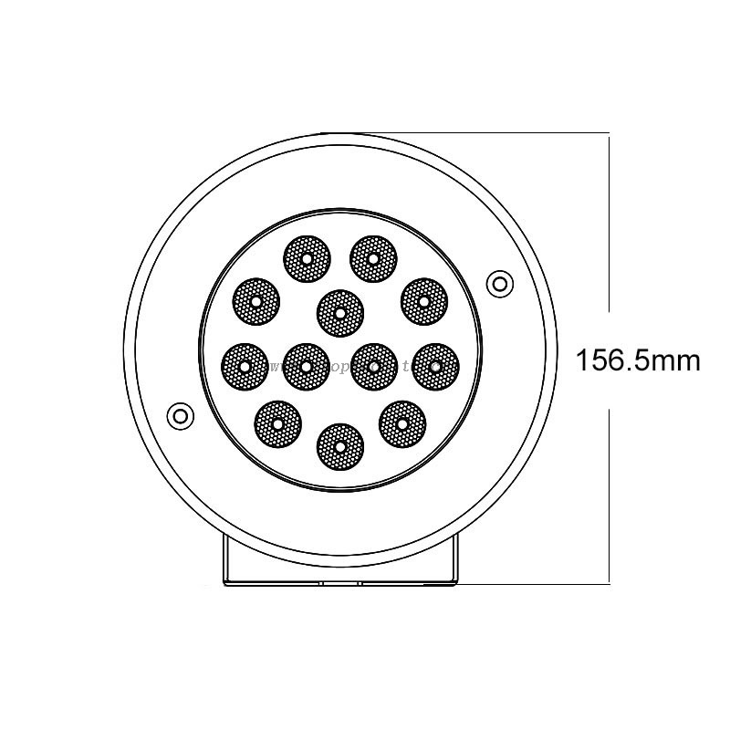 IP68 Waterproof Stainless Steel 9W DC 12V RGB External Control LED Underwater Waterfall Pool Lights